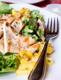 Spiced Chicken And Mango Salad